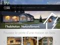 maison bois en kit madrier contrecollé angle de ville ISO 9001 ISO 14001 ETA