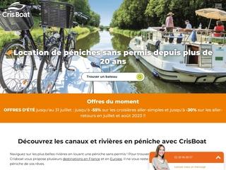 Cris Boat France – Location de péniches et bateau fluvial sans permis