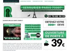 Ouverture de porte Paris 7