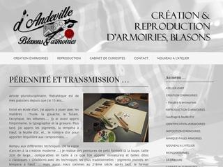 Xavier d\'Andeville crée et reproduit des armoiries, personnelles, d\'entre prise et d\'institutions ...