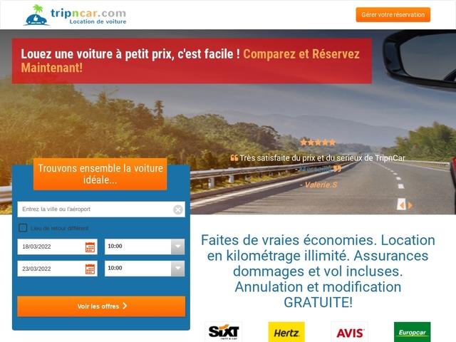 Tripncar.com : Location voiture pas cher