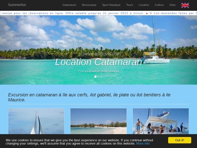 Excursion en catamaran à l'île aux cerfs sur Maurice