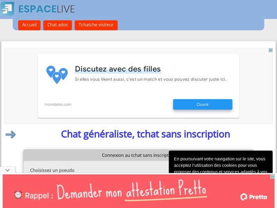Live Chat rencontres site Web