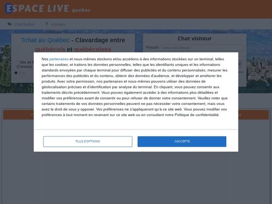Quebec.espace-live.com est un site de tchat québécois.