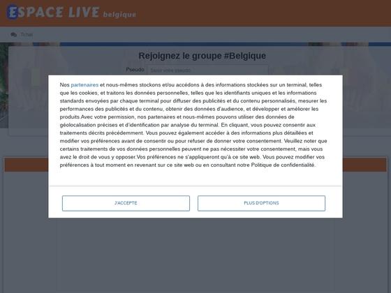 belgique.espace-live.com est un site de chat belge.