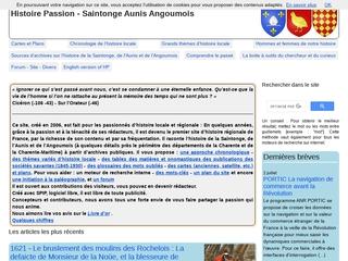 L\'histoire de la Saintonge, de l\'Aunis et de l\'Angoumois par les documents d\'archives