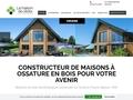 construction maison ossature bois ronde polygonale Maisons de Cèdre
