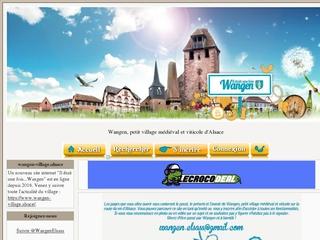 Wangen cité médiévale et viticole sur la route du vin d'Alsace....Wangen hier,aujourd'hui,demain..