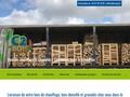 acheter granulés de bois pellets en Bretagne Morbihan Finistère sud bois de chauffage bûches densifiées C2Bois