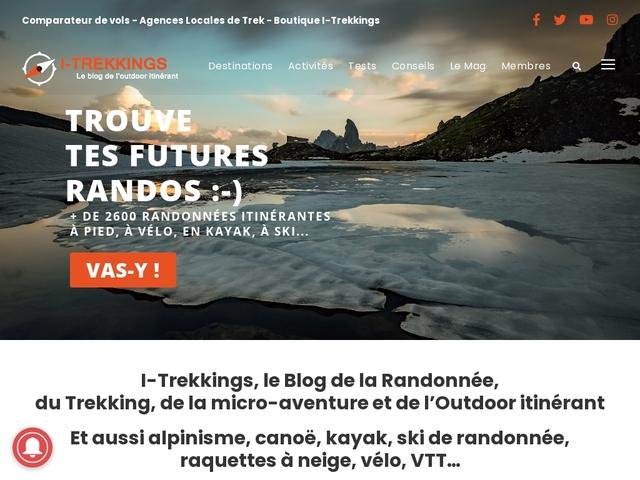 I-Trekkings, blog communautaire sur la randonnée itinérante
