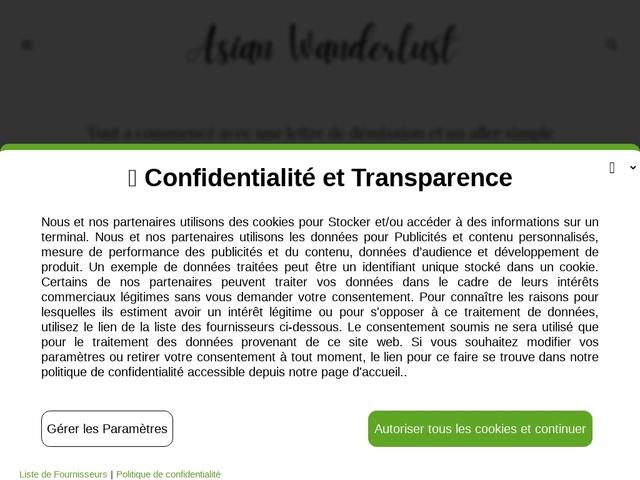 Asian Wanderlust, le blog de voyage sur l'Asie