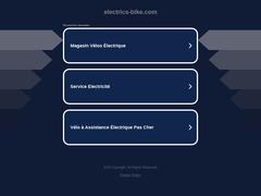 Electric'Bike. Vélos électriques, VTT électriques, VTC électriques, Batteries pour Vélos Electriques