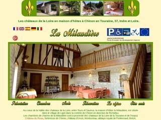 Maison d hotes en France parmi les chateaux de la Loire a Chinon en Touraine (7 chambres ou suites).