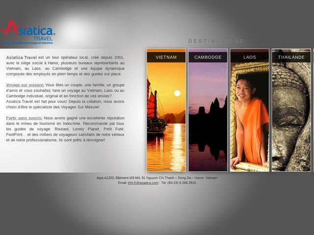 Asiatica Travel, spécialiste des voyages sur mesure au Vietnam-Laos-Cambodge