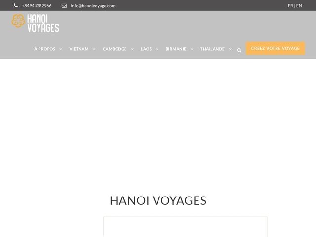 Hanoi Voyages : agence de voyage sur mesure en Asie du sud est