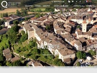 Lauzerte, bastide médiévale en Quercy Blanc, Halte sur les Chemins de Saint Jacques de Compostelle, est l\'un des Plus Beaux Villages de France.