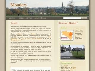 Moutiers est une commune rurale située à l\'est de l\'Ille-et-Vilaine (35), à proximité de La Guerche-de-Bretagne et à 45 km de Rennes. Elle fait partie du Pays de Vitré (Porte de Bretagne) et de la Bretagne historique.