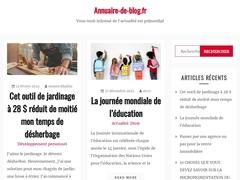 Détails :  Annuaire Blog