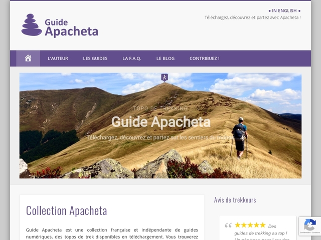 Guide Apacheta :  topos de trekking avec traces GPS en libre téléchargement