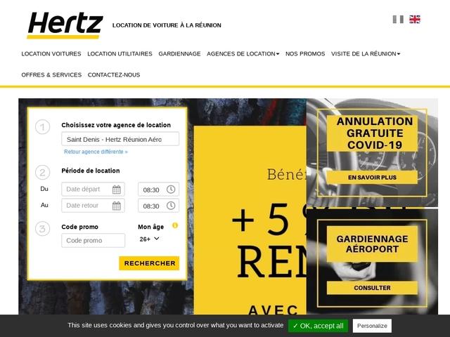 Hertz Réunion, location de voiture sur l'île de la Réunion