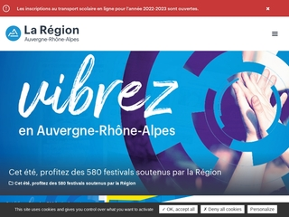 Site officiel de la r�gion Auvergne - Rh�ne-Alpes