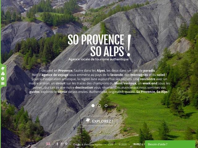 So Provence, So Alps !, l' agence de voyage spécialiste du Sud-Est de la France
