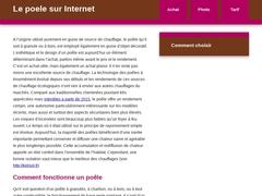 vente en ligne boutique poêles et chaudières à bois granulés livraison France Belgique