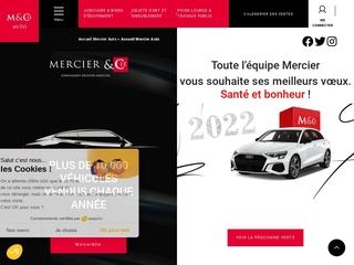 Vente de voitures d'occasion aux enchères chez Mercier Auto