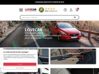 Lovecar, la vente de housse auto sur Internet