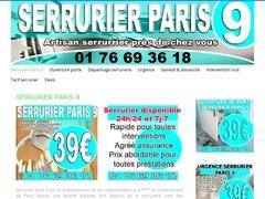 Serrurier samedi dimanche Paris 9 à 39€ - Mannuaire.net