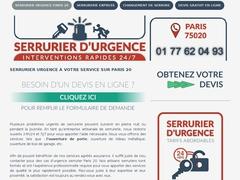 Services d'urgence serrurerie Paris 20 - Mannuaire.net
