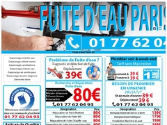 Réparation fuite d'eau canalisations Paris 20 - Mannuaire.net