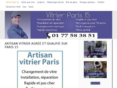 Artisan vitrier Paris 15 pas cher