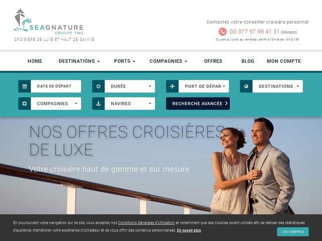 Seagnature : Agence spécialisée croisières de luxe