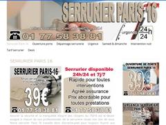 Serrurier agréé assurances sur Paris 16 - Mannuaire.net