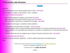 Détails : T'es conne, site d'humour - T'ES CONNE