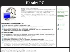 Détails : Logiciel Horaire PC