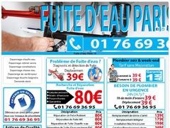 Réparation fuite chauffe-eau Paris 13