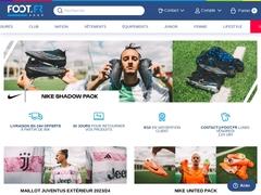 Vente en ligne d'équipements foot