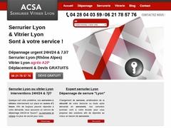 ACSA Serrurier et vitrier à Lyon - Mannuaire.net