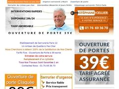 Service urgence serrurier Paris 12 pas cher