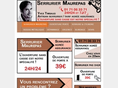 Professionnel serrurier dimanche sur Maurepas - Mannuaire.net