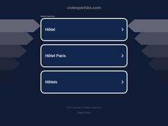 Osteo A Paris : Massage à domicile - Mannuaire.net