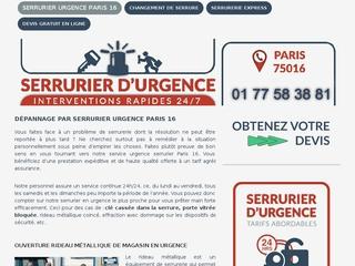 Entreprise de serrurerie sur le 16e  de Paris