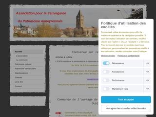 Informations sur le patrimoine anneyronnais et sur les actions menées par l\'Association de Sauvegarde du Patrimoine Anneyronnais.