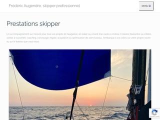 Frédéric Augendre, skipper professionnel pour vos croisières.