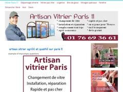 Installation de baie vitrée Paris 11