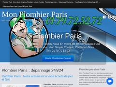 plombier urgence Paris