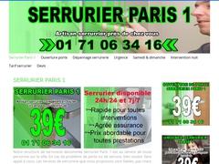 Serrurier agréé assurances Paris 1 à 39€ - Mannuaire.net