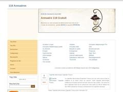 Détails : 118 Annuaires : Renseignement internet